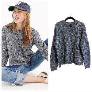 J. Crew Collection  marled knit Crewneck sweater